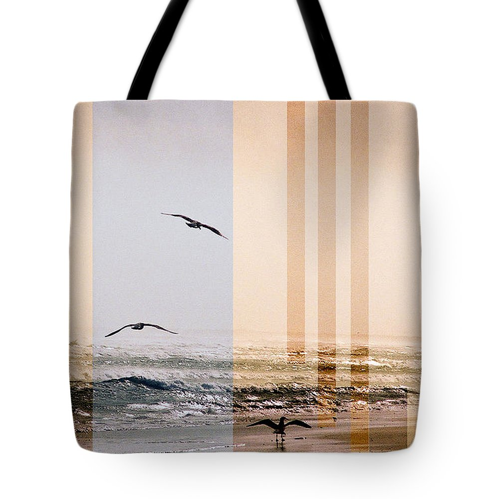Abstract Tote Bag featuring the photograph Shore Collage by Steve Karol