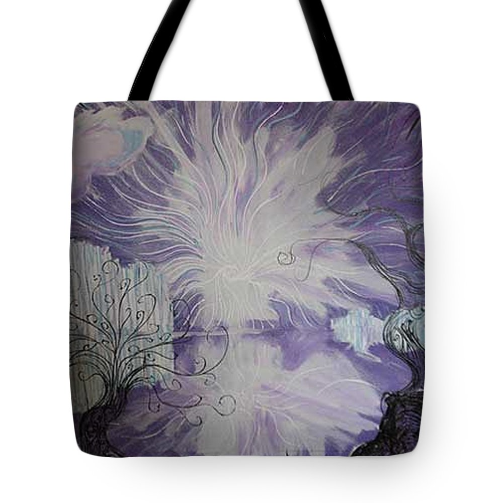 Squiggleism Tote Bag featuring the painting Shore Dance by Stefan Duncan