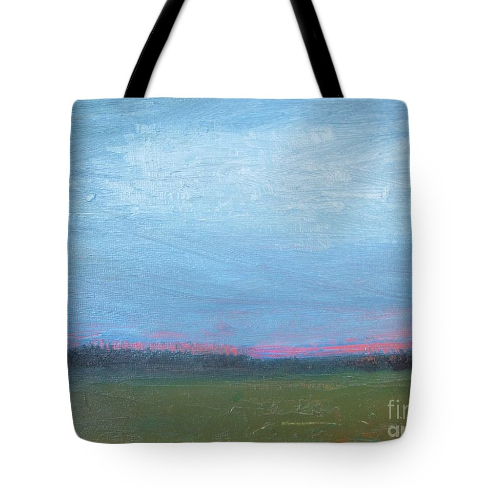 Abstract Tote Bag featuring the painting Spring Sunrise by Vesna Antic