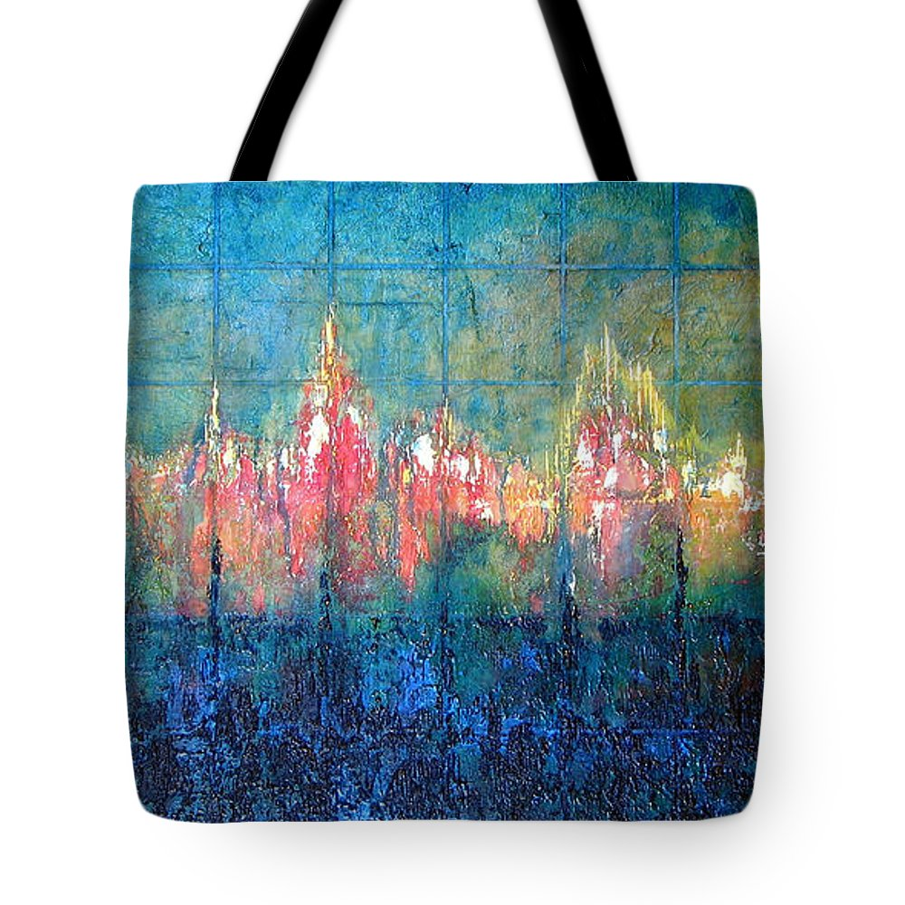 Seascape Tote Bag featuring the painting Shorebound by Shadia Derbyshire