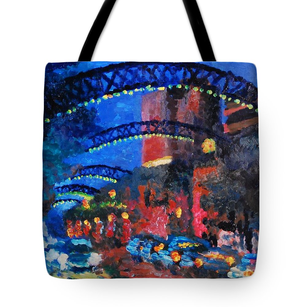 Short North Tote Bag featuring the painting Short North by Lauren Luna