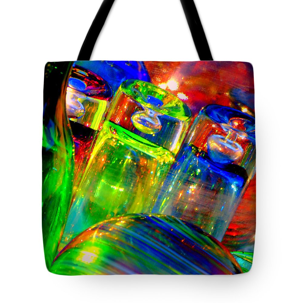 Glass Tote Bag featuring the photograph Shot Glass by Donna Blackhall