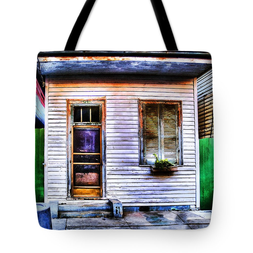 Nola Tote Bag featuring the photograph Shotgun House Number 3 by Tammy Wetzel