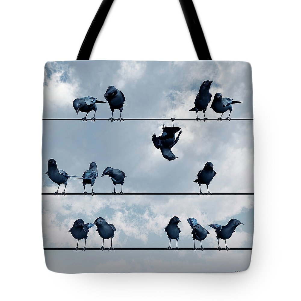 Crow Tote Bag featuring the digital art Show Off by Cynthia Decker