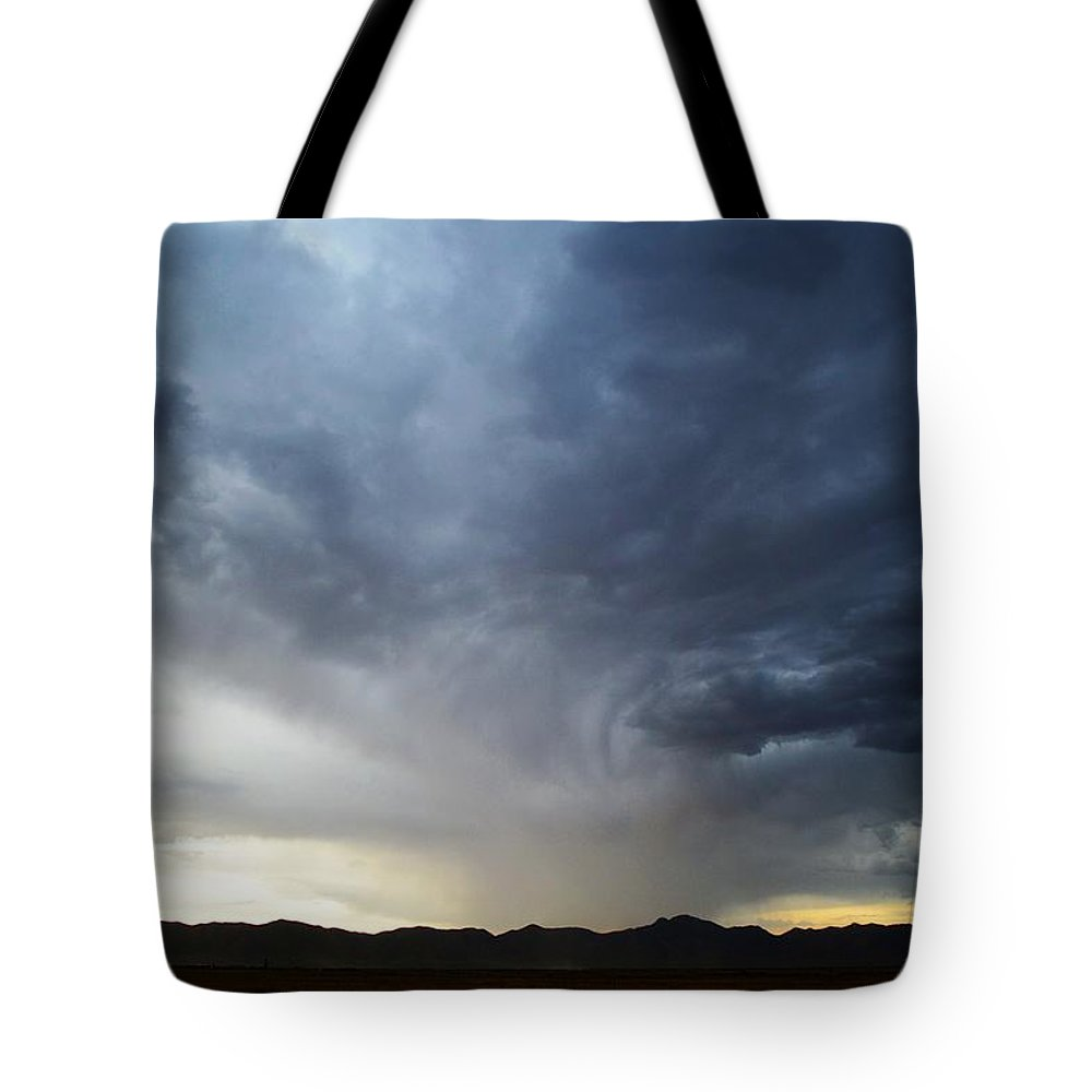 Landscape Tote Bag featuring the photograph Shower North Of The Mountains by Brent Hall