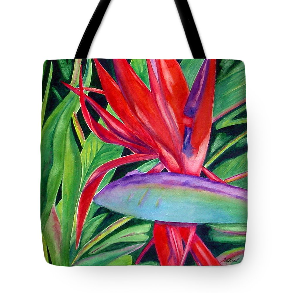 Plant Tote Bag featuring the painting Showgirl by Marsha Elliott