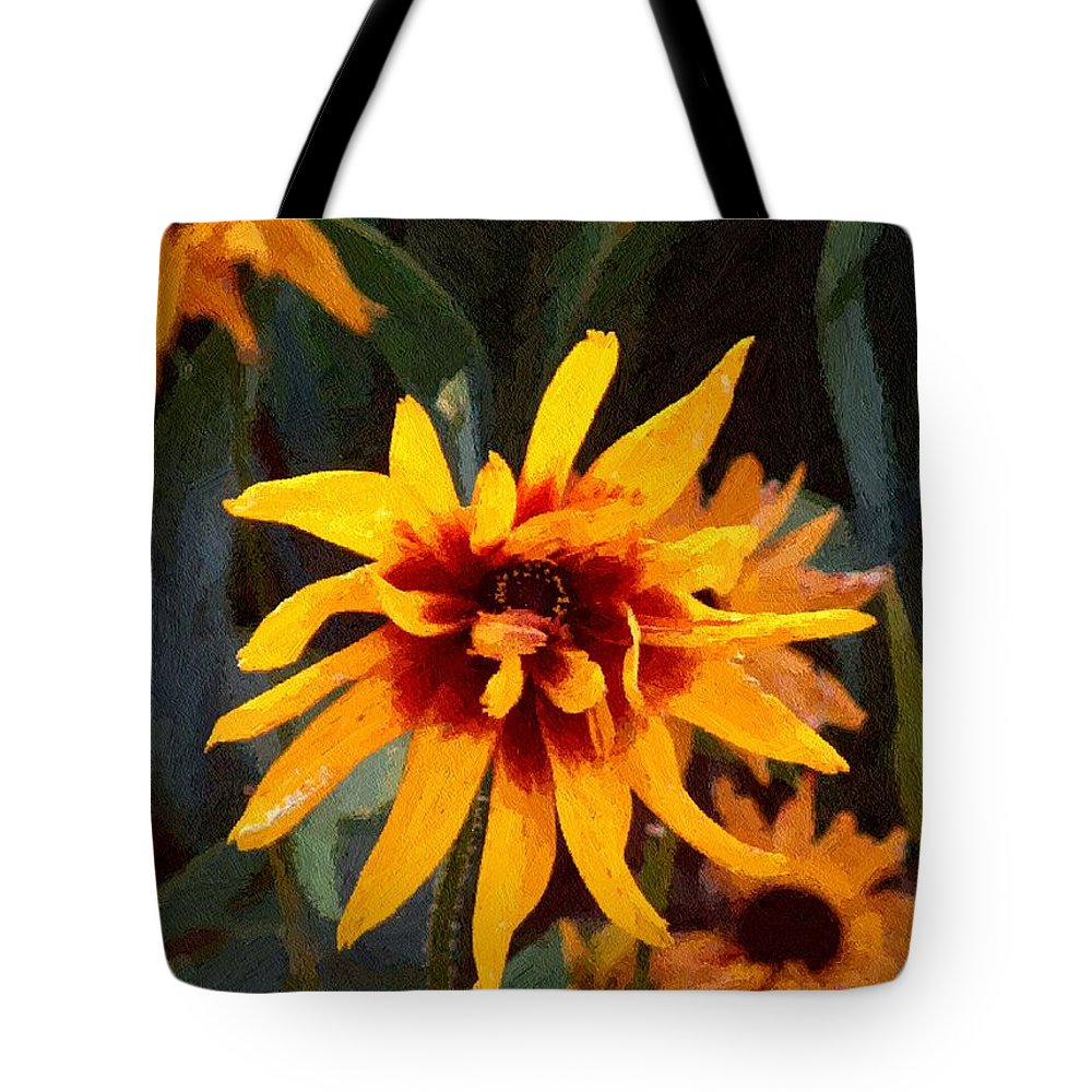 Brown Tote Bag featuring the greeting card Showoff by RC DeWinter