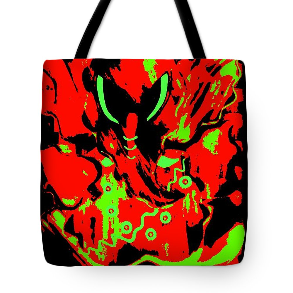 Digital Art Tote Bag featuring the digital art Shree Ganesha 2 by Piety Dsilva