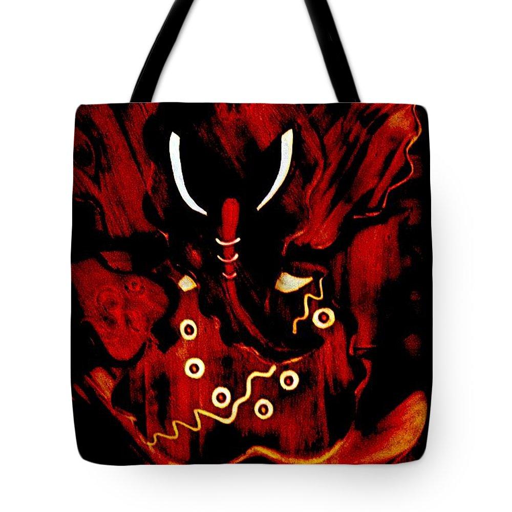 Digital Art Tote Bag featuring the digital art Shree Ganesha 3 by Piety Dsilva