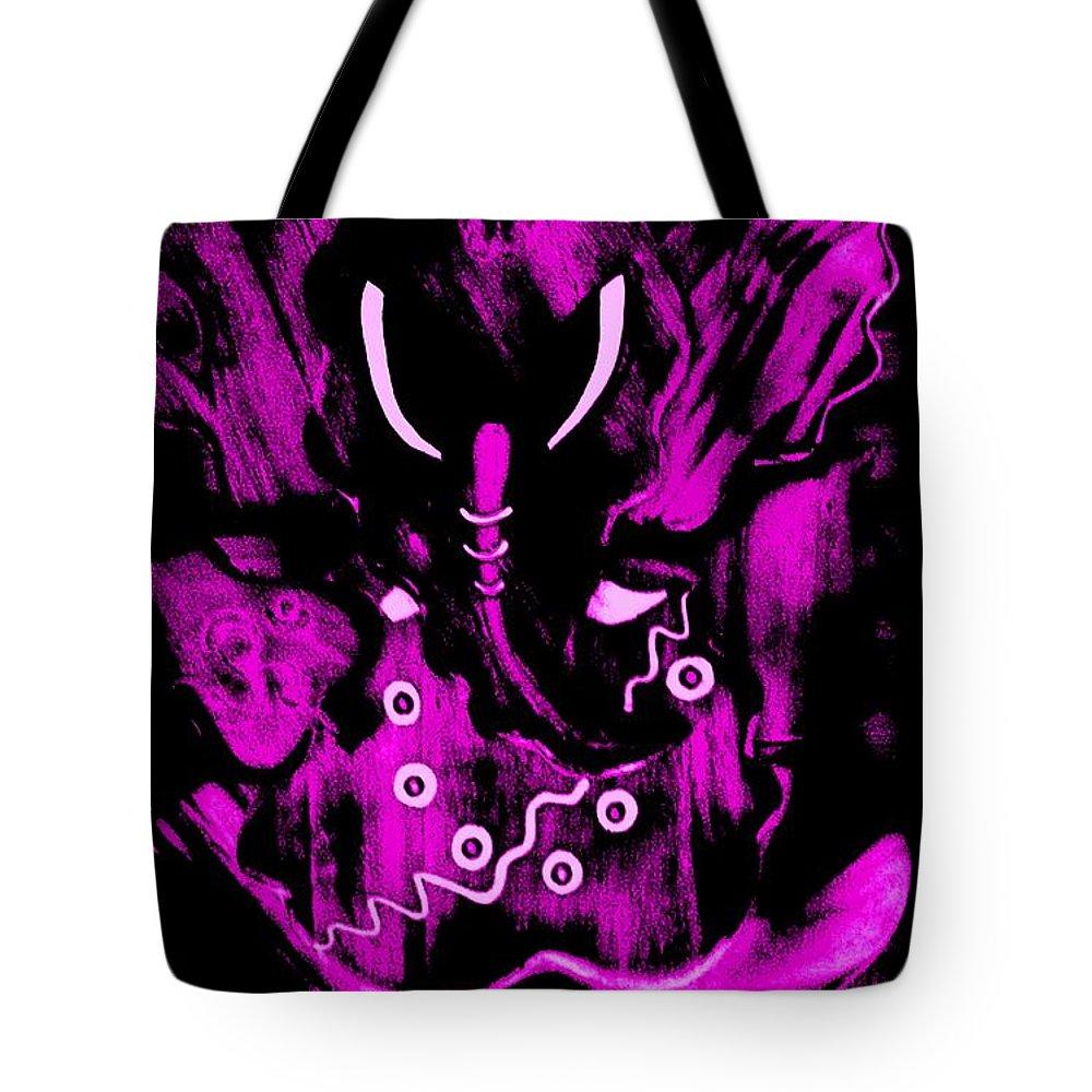 Digital Art Tote Bag featuring the digital art Shree Ganesha 4 by Piety Dsilva