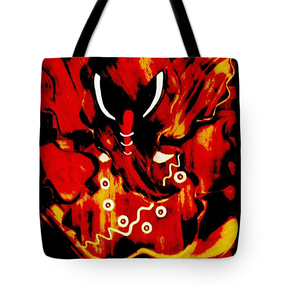 Digital Art Tote Bag featuring the digital art Shree Ganesha 9 by Piety Dsilva