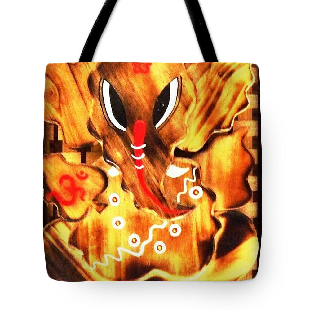 Digital Art Tote Bag featuring the digital art Shree Ganesha by Piety Dsilva