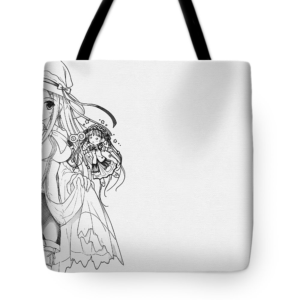 Shukufuku No Campanella Tote Bag featuring the digital art Shukufuku No Campanella by Lora Battle