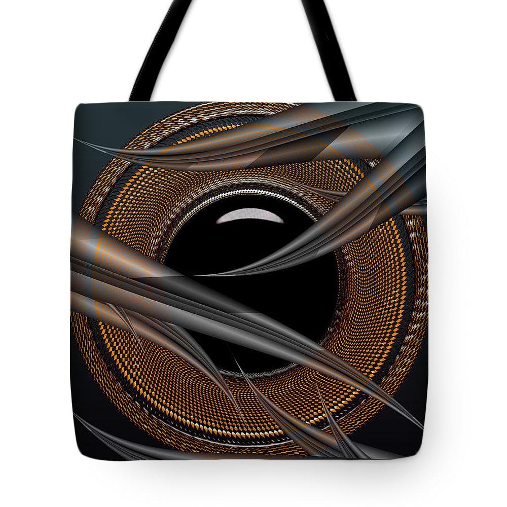 Design Tote Bag featuring the digital art Shy Away by Robert Orinski
