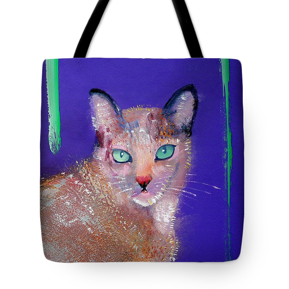Cat Tote Bag featuring the painting Siamese Cat by Charles Stuart