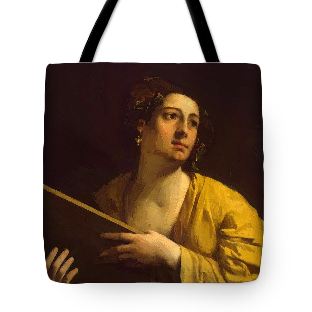 Sibyl Tote Bag featuring the painting Sibyl 1525 by Dossi Dosso