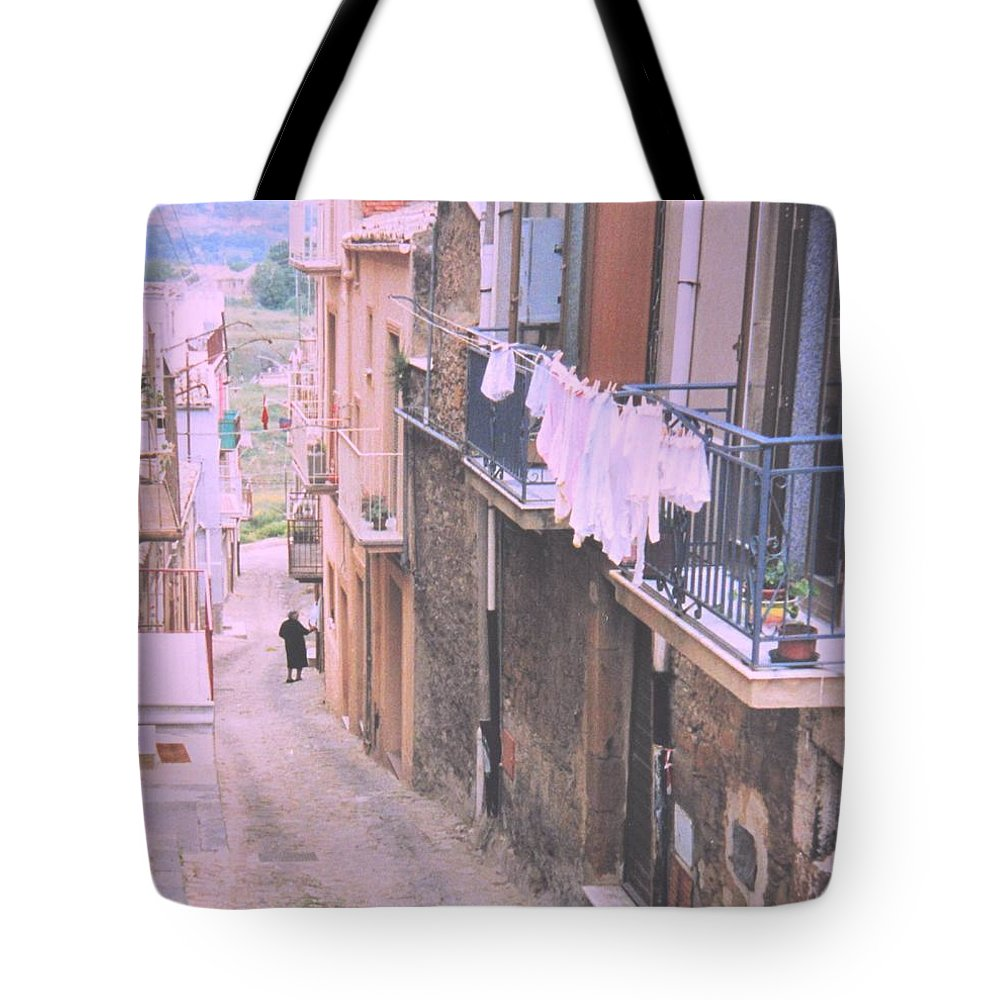 Sicily Tote Bag featuring the photograph Sicily by Ian MacDonald