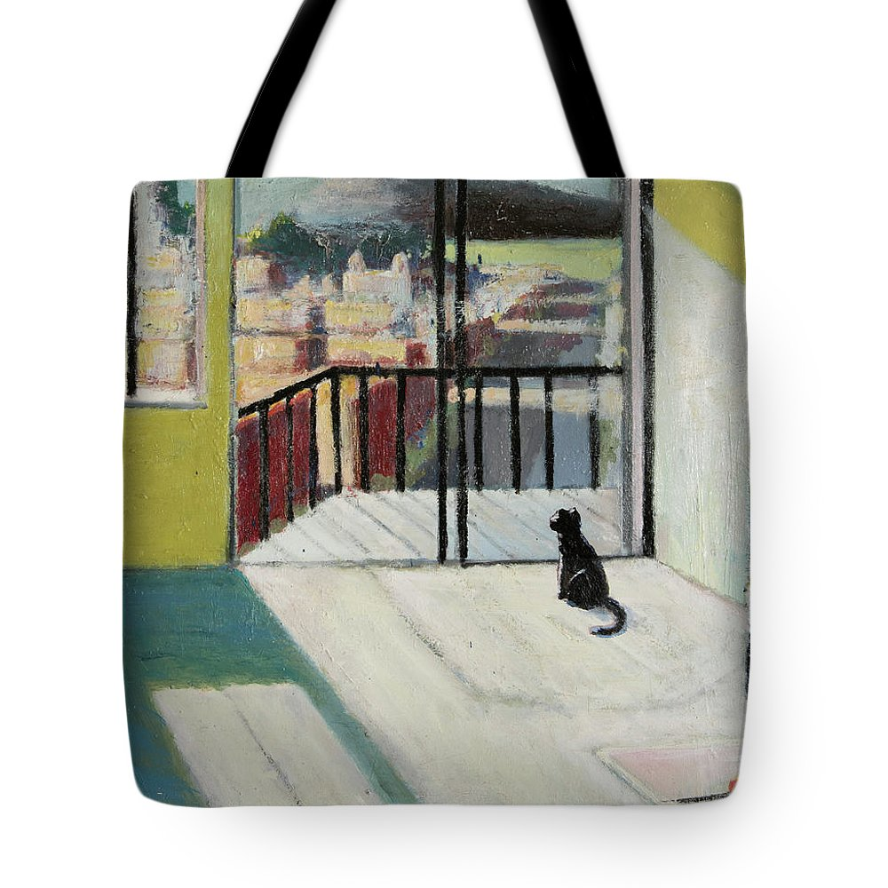 San Francisco Tote Bag featuring the painting Sick Day San Francisco by Craig Newland