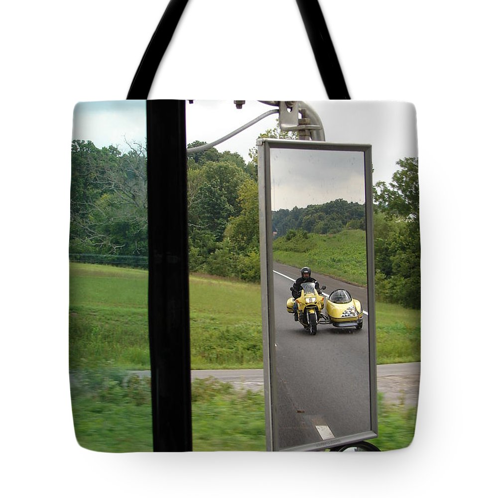 Truck Tote Bag featuring the photograph Side Car Framed by J R  Seymour