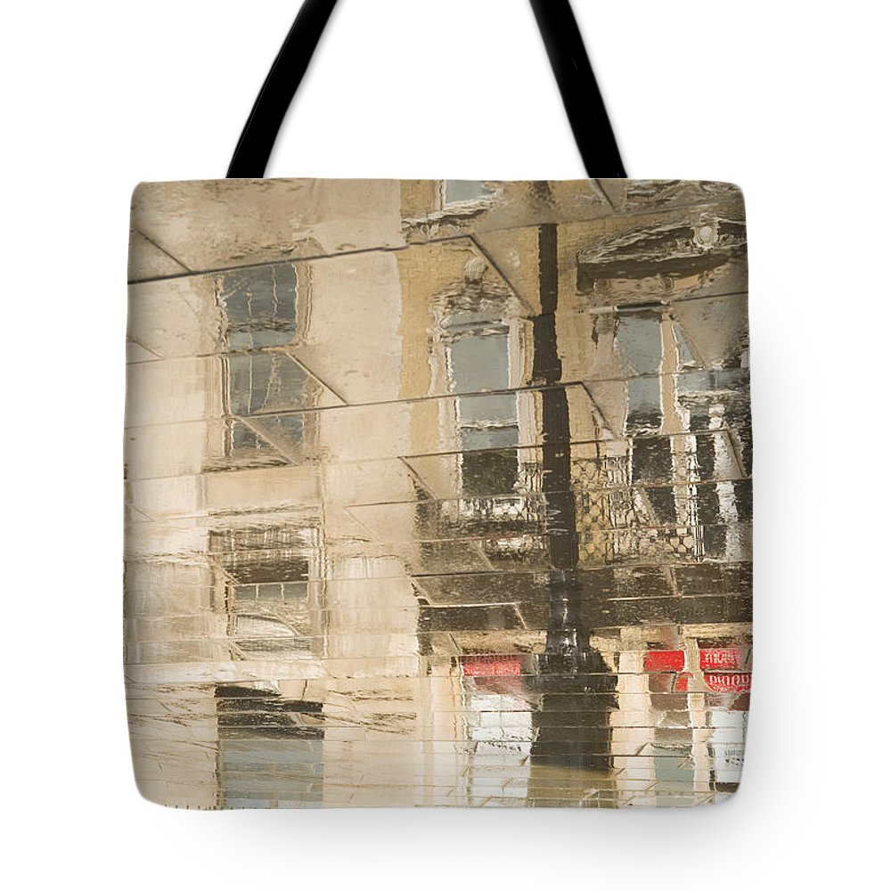 Clarence Holmes Tote Bag featuring the photograph Sidewalk Reflections II by Clarence Holmes