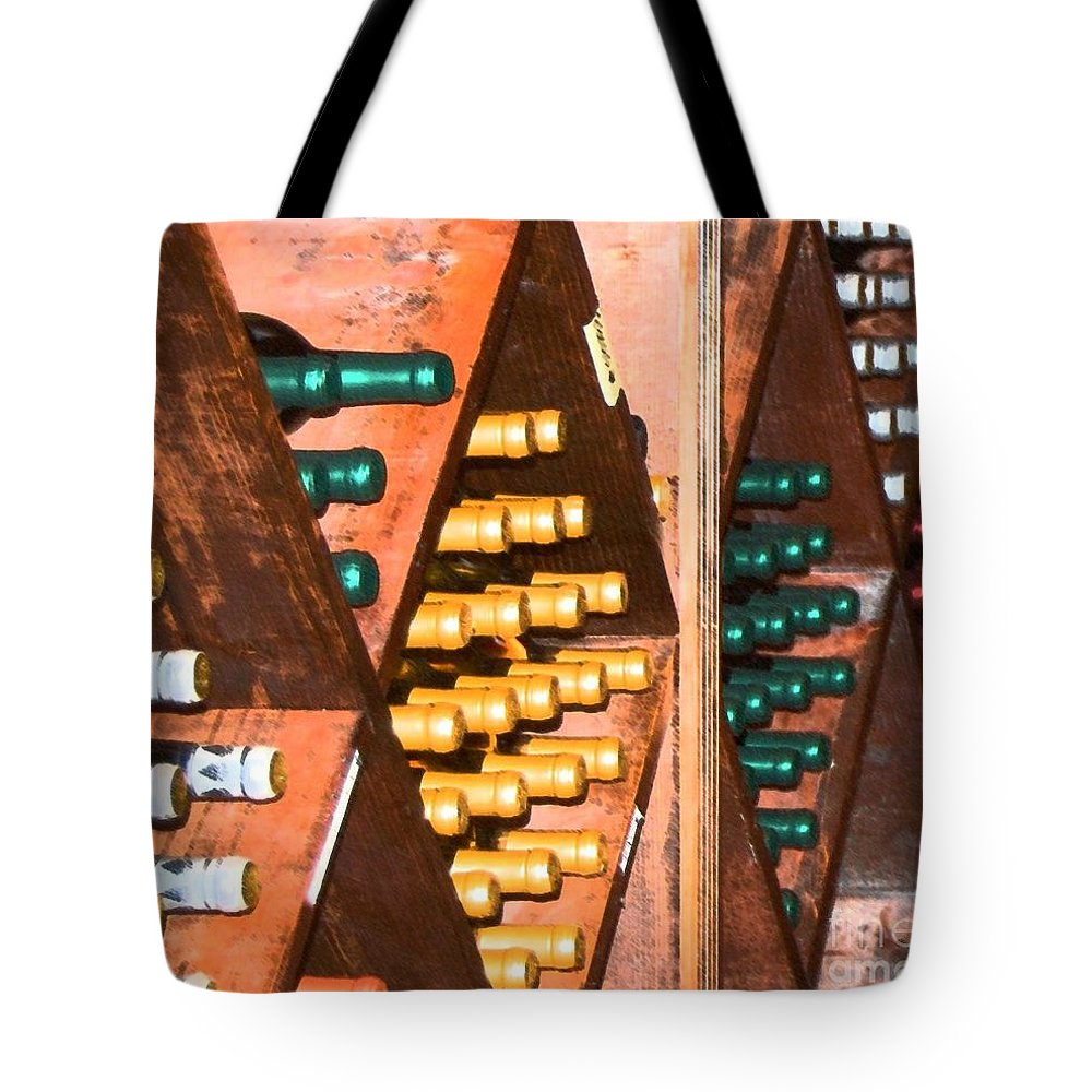 Wine Tote Bag featuring the photograph Sideways by Debbi Granruth
