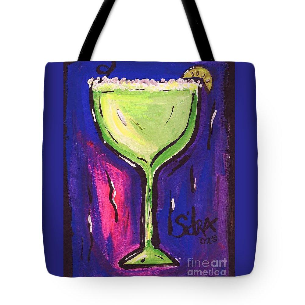 Margarita Tote Bag featuring the painting Sidzart Pop Art Series 2002 Margarita Baby by Sidra Myers
