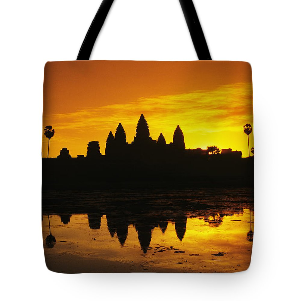Ancient Tote Bag featuring the photograph Siem Reap, Angkor Wat by Gloria & Richard Maschmeyer - Printscapes