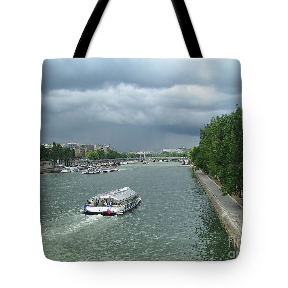 Paris Tote Bag featuring the photograph Seine River by Karen Granado