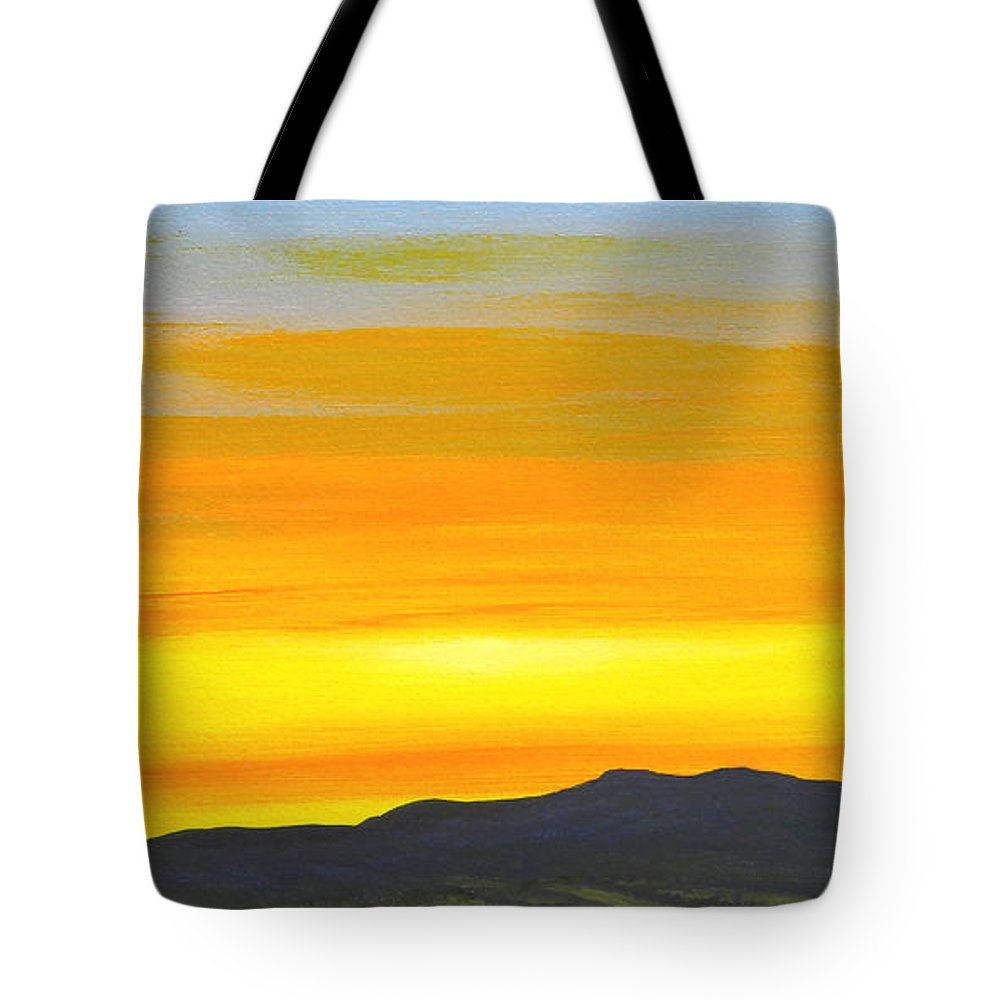 Sunrise Tote Bag featuring the painting Sierra Foothills Sunrise by Frank Wilson
