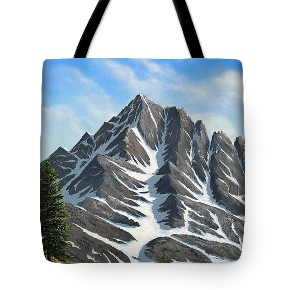 Mountains Tote Bag featuring the painting Sierra Peaks by Frank Wilson
