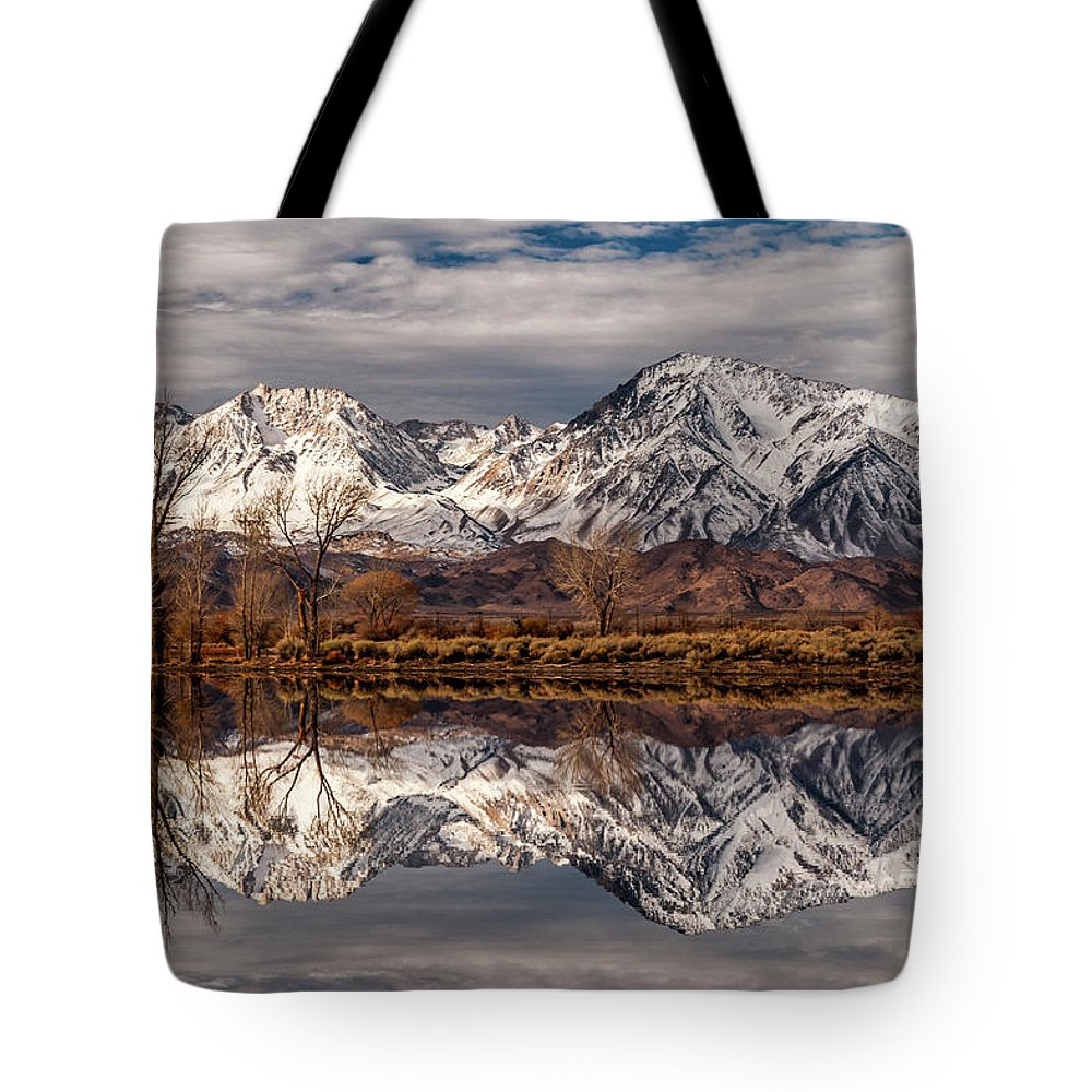 Reflection Tote Bag featuring the photograph Sierra Reflections 2 by Cat Connor