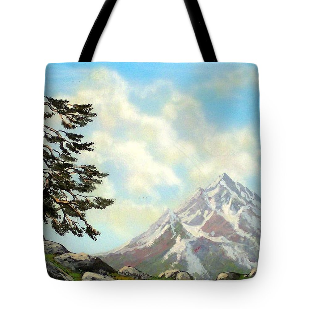 Wildflowers Tote Bag featuring the painting Sierra Warriors by Frank Wilson