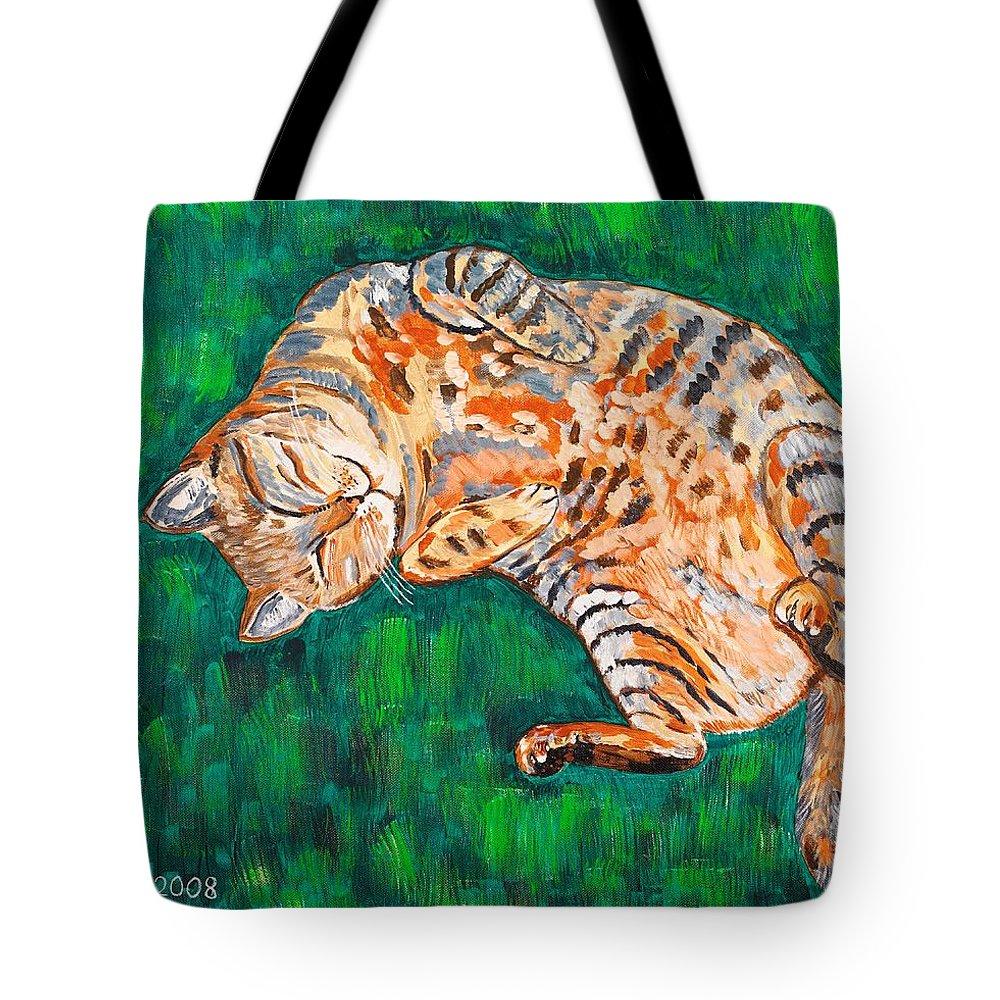 Siesta Tote Bag featuring the painting Siesta by Valerie Ornstein