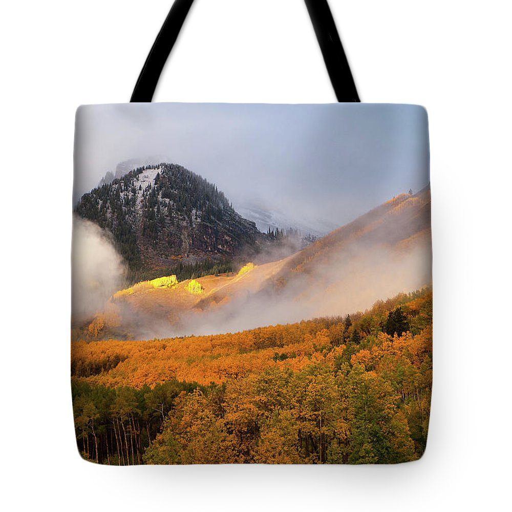 Colorado Tote Bag featuring the photograph Siever's Mountain by Steve Stuller