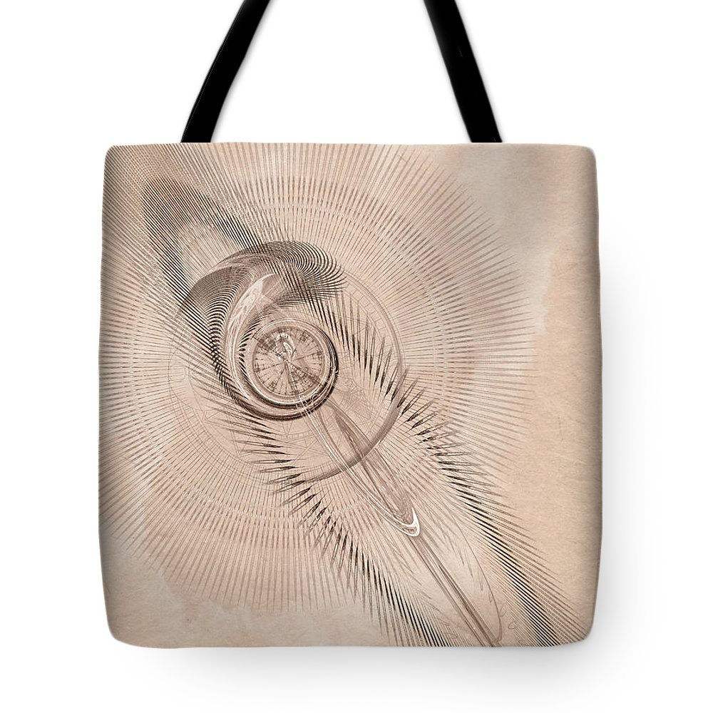 Sigil Tote Bag featuring the digital art Sigil by John Edwards