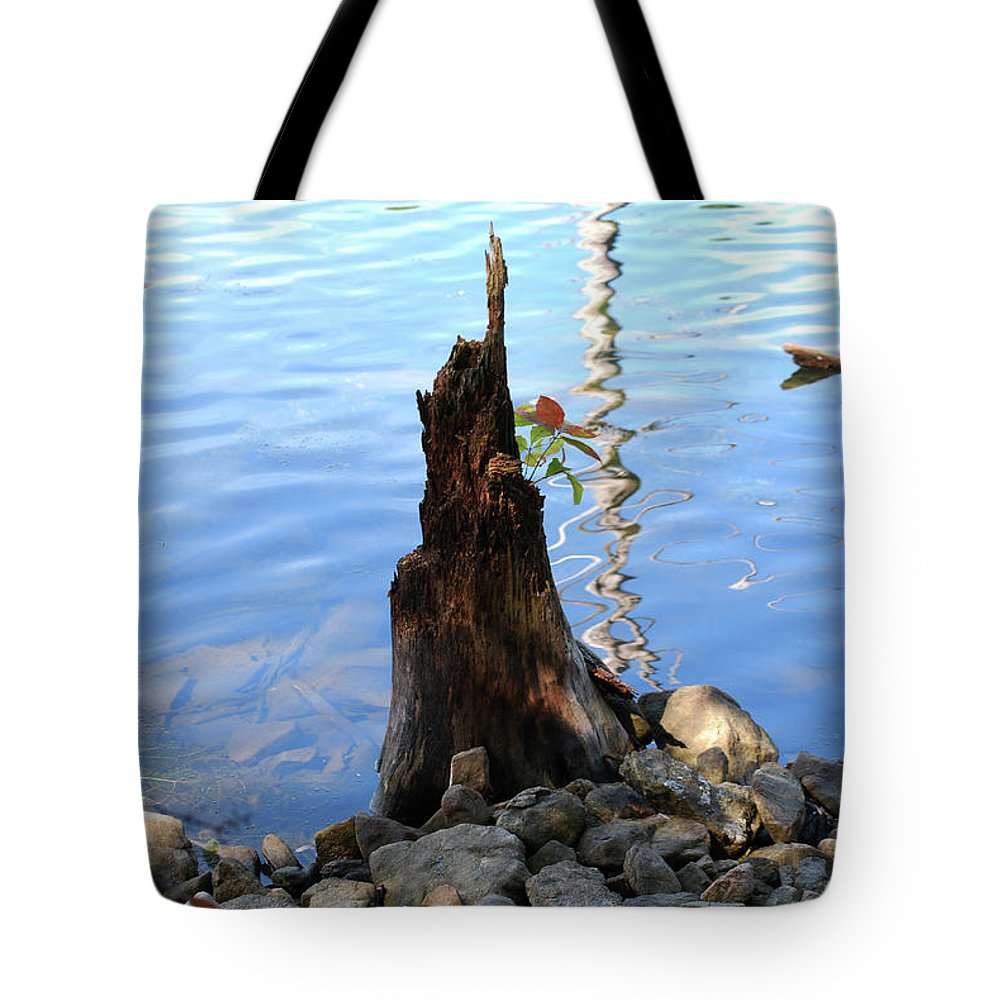 Water Tote Bag featuring the photograph Sign Of Life by Lori Tambakis