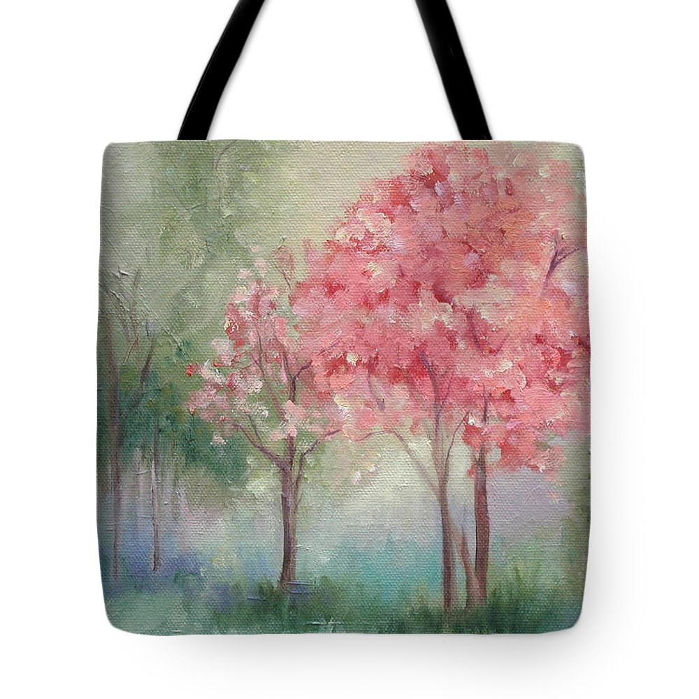 Spring Tote Bag featuring the painting Sign Of Spring by Ginger Concepcion