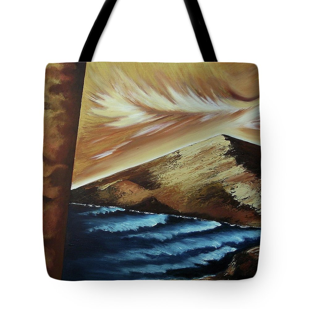 Tote Bag featuring the painting Sign of Truth by Ara Elena
