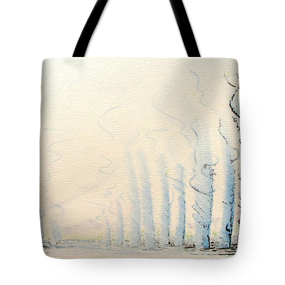 Watercolor Tote Bag featuring the painting Signals by Dave Martsolf
