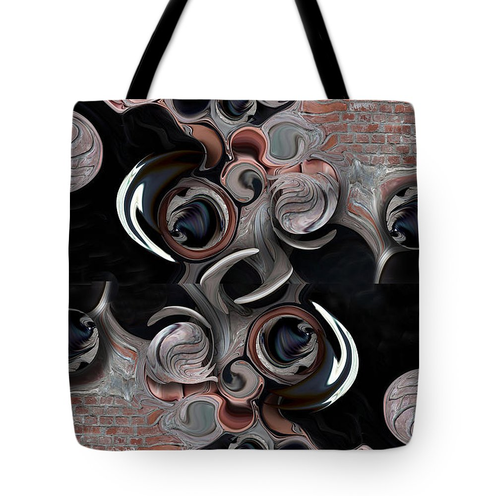 Significance And Abstraction Tote Bag featuring the digital art Significance and Abstraction by Carmen Fine Art