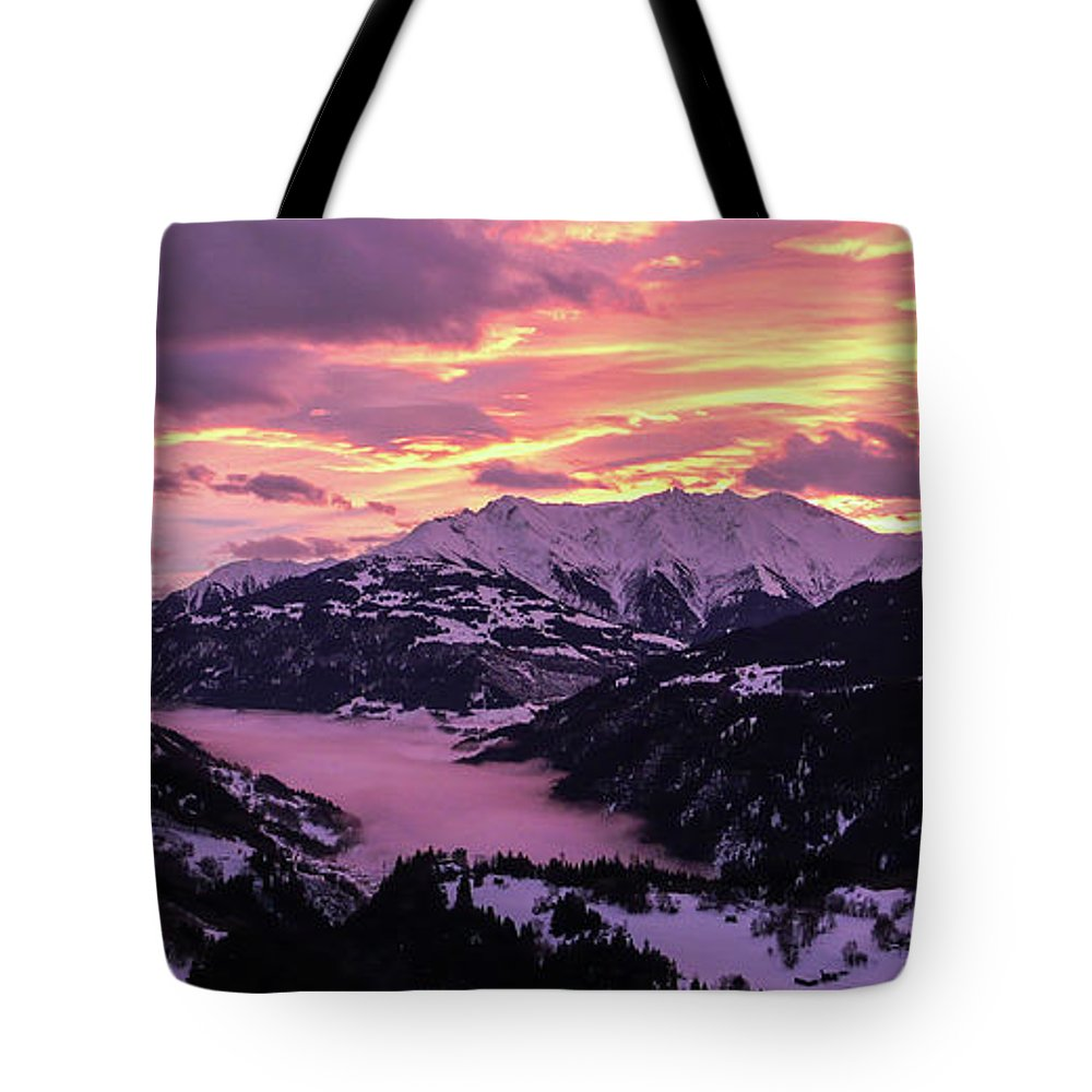Andienst Tote Bag featuring the photograph Signina Winter by DiFigiano Photography