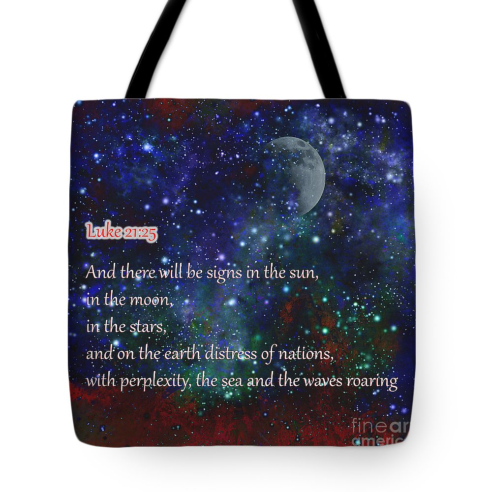 Sky Tote Bag featuring the photograph Signs In The Sun Moon Stars by Beverly Guilliams