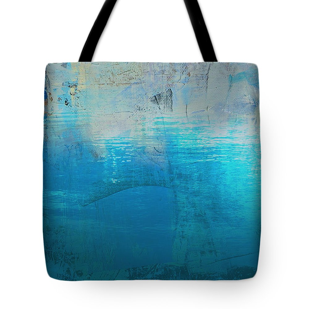 Abstract Art Digital Tote Bag featuring the painting Silence 1 by Diane Desrochers
