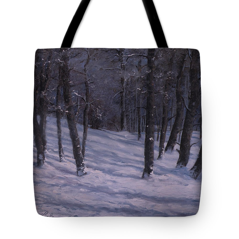 Western Art Tote Bag featuring the painting Silence by Mia DeLode