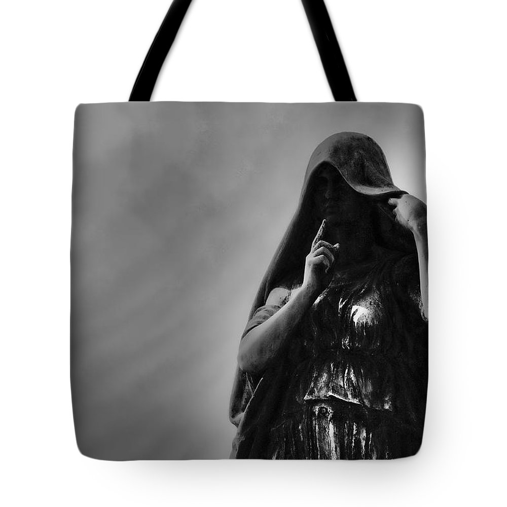 Cemetery Tote Bag featuring the photograph Silent Angel by David Arment
