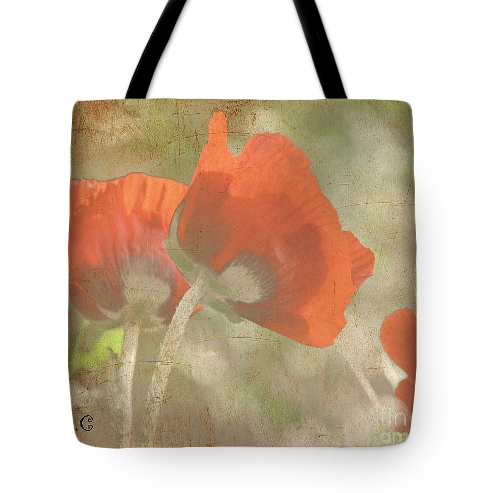 Poppy Tote Bag featuring the photograph Silent Dancers by Traci Cottingham