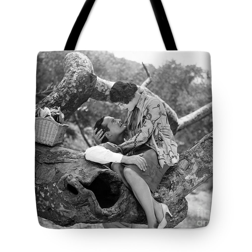 -picnic- Tote Bag featuring the photograph Silent Film Still: Picnic by Granger