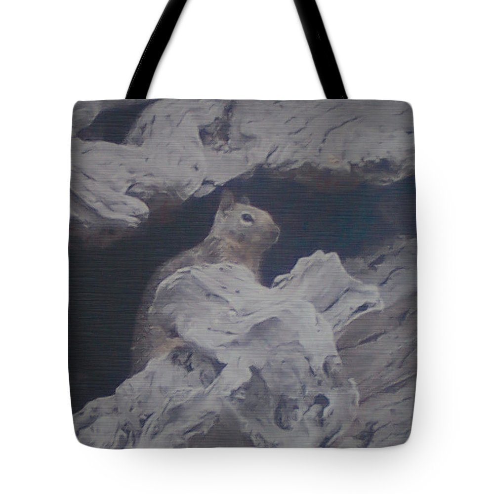 Squirrel Tote Bag featuring the photograph Silent Observer by Pharris Art