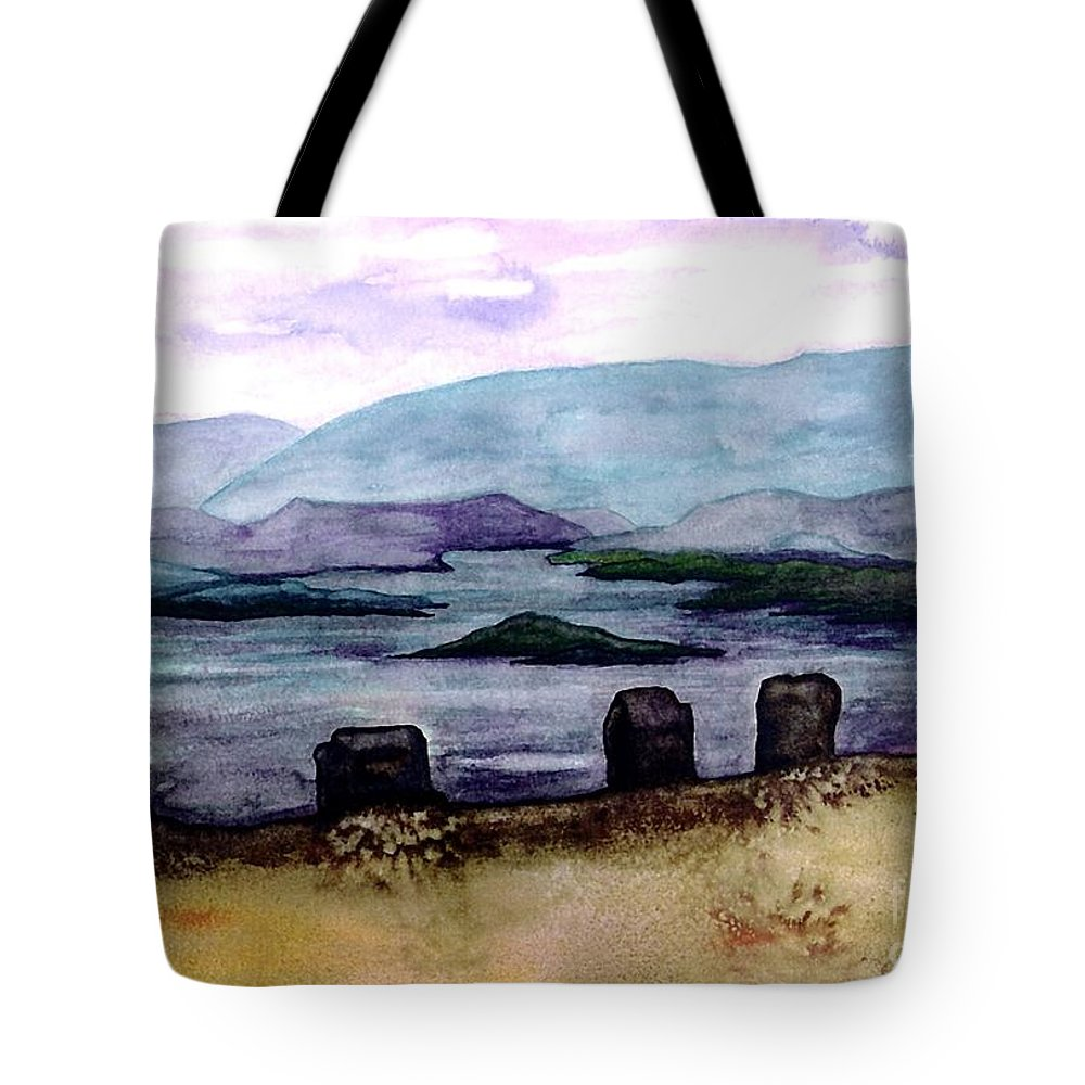 Original Painting Tote Bag featuring the painting Silent Sentinels by Patricia Griffin Brett
