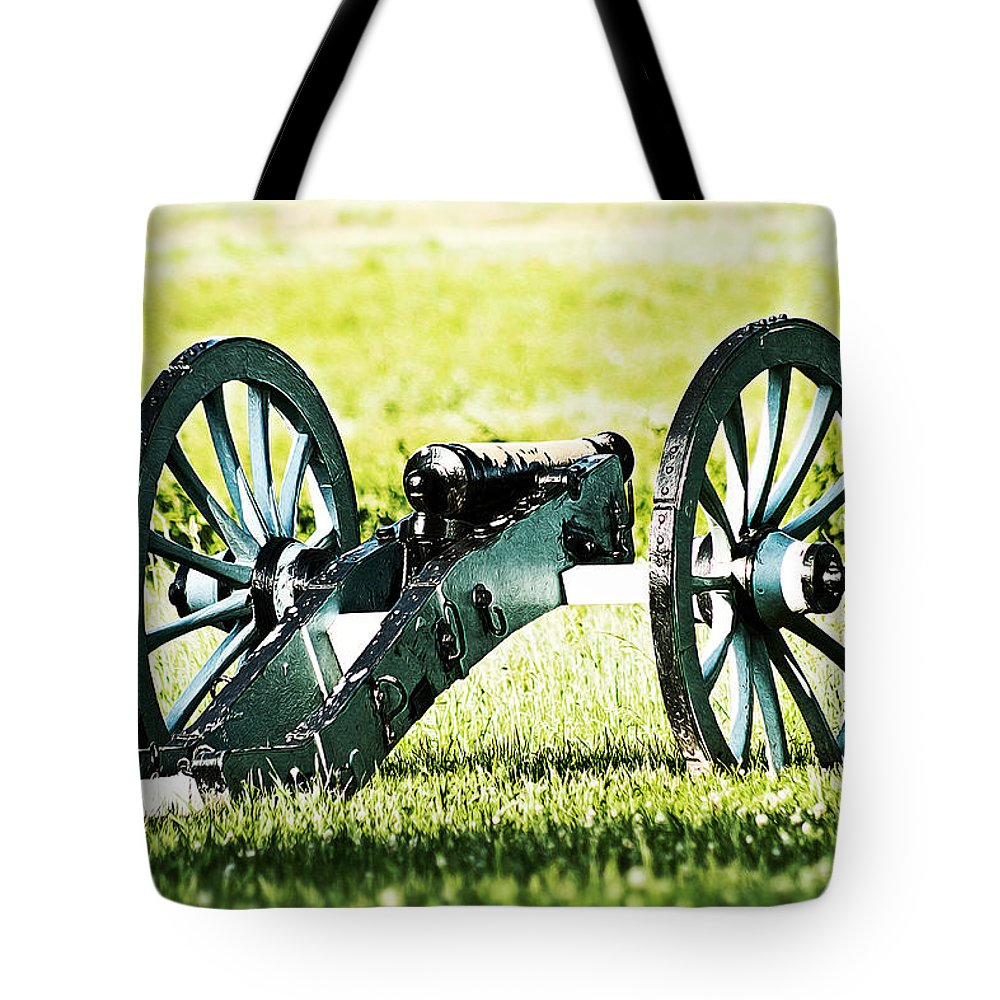 Cannon Tote Bag featuring the photograph Silent Sentry by Michael Porchik